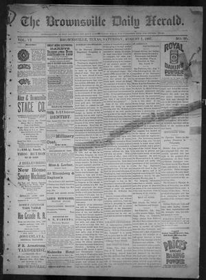 Primary view of object titled 'The Brownsville Daily Herald. (Brownsville, Tex.), Vol. 6, No. 30, Ed. 1, Saturday, August 7, 1897'.
