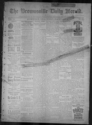 Primary view of object titled 'The Brownsville Daily Herald. (Brownsville, Tex.), Vol. 6, No. 31, Ed. 1, Monday, August 9, 1897'.