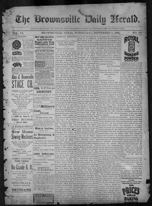 Primary view of object titled 'The Brownsville Daily Herald. (Brownsville, Tex.), Vol. 6, No. 50, Ed. 1, Wednesday, September 1, 1897'.
