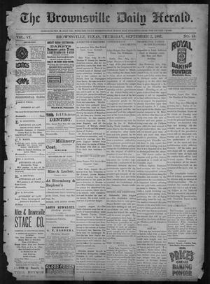 Primary view of object titled 'The Brownsville Daily Herald. (Brownsville, Tex.), Vol. 6, No. 51, Ed. 1, Thursday, September 2, 1897'.
