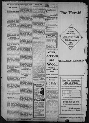 Primary view of object titled 'The Brownsville Daily Herald. (Brownsville, Tex.), Vol. 6, No. 55, Ed. 1, Tuesday, September 7, 1897'.