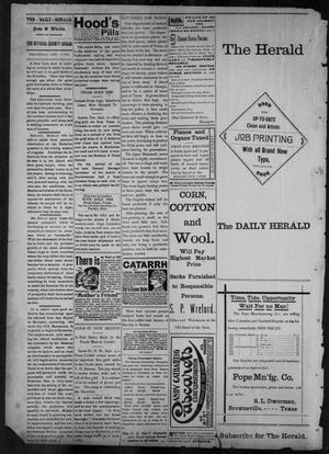 Primary view of object titled 'The Brownsville Daily Herald. (Brownsville, Tex.), Vol. 6, No. 56, Ed. 1, Wednesday, September 8, 1897'.
