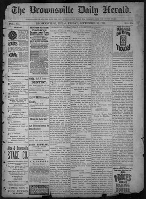 Primary view of object titled 'The Brownsville Daily Herald. (Brownsville, Tex.), Vol. 6, No. 58, Ed. 1, Friday, September 10, 1897'.