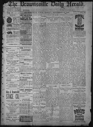 Primary view of object titled 'The Brownsville Daily Herald. (Brownsville, Tex.), Vol. 6, No. 60, Ed. 1, Monday, September 13, 1897'.