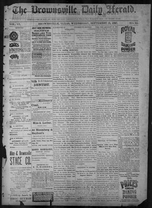 Primary view of object titled 'The Brownsville Daily Herald. (Brownsville, Tex.), Vol. 6, No. 62, Ed. 1, Wednesday, September 15, 1897'.