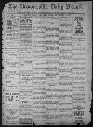 Primary view of object titled 'The Brownsville Daily Herald. (Brownsville, Tex.), Vol. 6, No. 63, Ed. 1, Thursday, September 16, 1897'.
