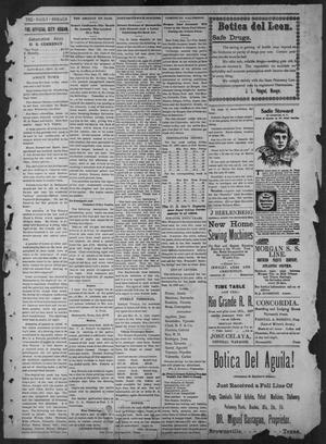Primary view of object titled 'The Brownsville Daily Herald. (Brownsville, Tex.), Vol. 6, No. 65, Ed. 1, Saturday, September 18, 1897'.