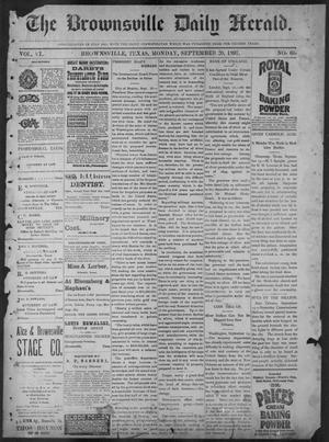 Primary view of object titled 'The Brownsville Daily Herald. (Brownsville, Tex.), Vol. 6, No. 66, Ed. 1, Monday, September 20, 1897'.
