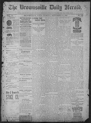 Primary view of object titled 'The Brownsville Daily Herald. (Brownsville, Tex.), Vol. 6, No. 67, Ed. 1, Tuesday, September 21, 1897'.