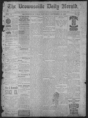 Primary view of object titled 'The Brownsville Daily Herald. (Brownsville, Tex.), Vol. 6, No. 71, Ed. 1, Saturday, September 25, 1897'.