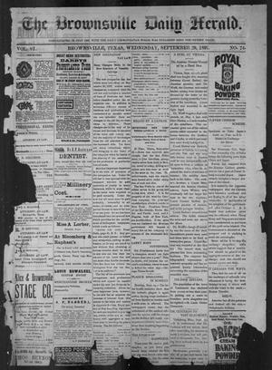 Primary view of object titled 'The Brownsville Daily Herald. (Brownsville, Tex.), Vol. 6, No. 74, Ed. 1, Wednesday, September 29, 1897'.