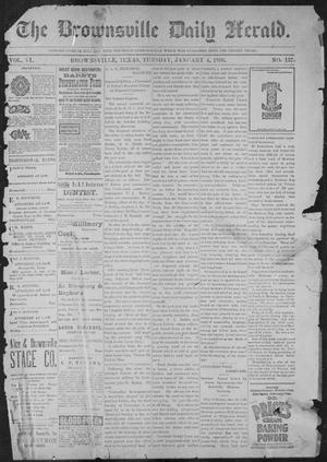 Primary view of object titled 'The Brownsville Daily Herald. (Brownsville, Tex.), Vol. 6, No. 157, Ed. 1, Tuesday, January 4, 1898'.