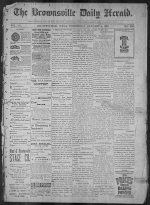 Primary view of object titled 'The Brownsville Daily Herald. (Brownsville, Tex.), Vol. 6, No. 158, Ed. 1, Wednesday, January 5, 1898'.
