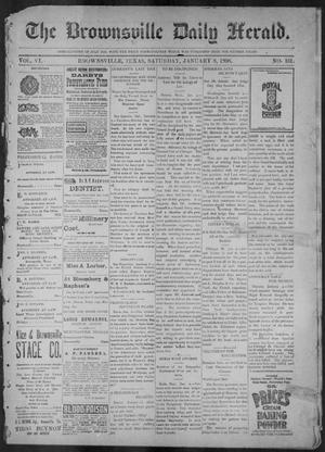 Primary view of object titled 'The Brownsville Daily Herald. (Brownsville, Tex.), Vol. 6, No. 161, Ed. 1, Saturday, January 8, 1898'.