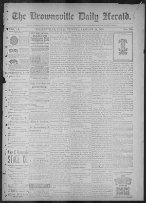 Primary view of object titled 'The Brownsville Daily Herald. (Brownsville, Tex.), Vol. 6, No. 169, Ed. 1, Tuesday, January 18, 1898'.