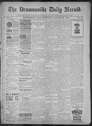 Primary view of object titled 'The Brownsville Daily Herald. (Brownsville, Tex.), Vol. 6, No. 170, Ed. 1, Wednesday, January 19, 1898'.