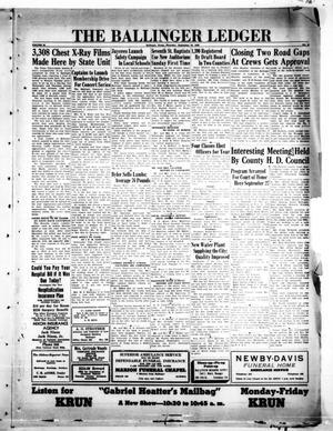 Primary view of The Ballinger Ledger (Ballinger, Tex.), Vol. 62, No. 47, Ed. 1 Thursday, September 16, 1948