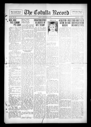 Primary view of The Cotulla Record (Cotulla, Tex.), Vol. 36, No. 22, Ed. 1 Friday, September 29, 1933