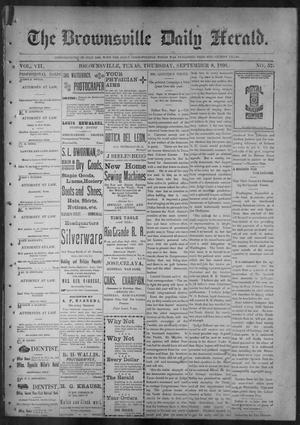 Primary view of object titled 'The Brownsville Daily Herald. (Brownsville, Tex.), Vol. 7, No. 57, Ed. 1, Thursday, September 8, 1898'.