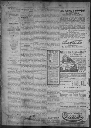Primary view of object titled 'The Brownsville Daily Herald. (Brownsville, Tex.), Vol. 7, No. 66, Ed. 1, Friday, September 16, 1898'.