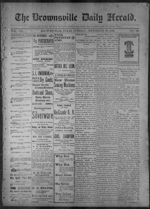 Primary view of object titled 'The Brownsville Daily Herald. (Brownsville, Tex.), Vol. 7, No. 78, Ed. 1, Tuesday, September 20, 1898'.