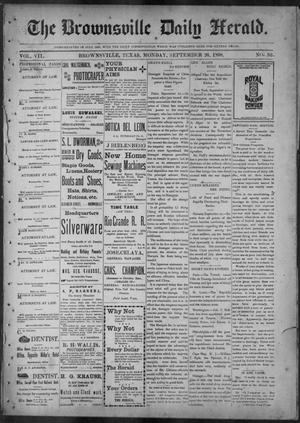 Primary view of object titled 'The Brownsville Daily Herald. (Brownsville, Tex.), Vol. 7, No. 83, Ed. 1, Monday, September 26, 1898'.
