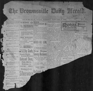 Primary view of object titled 'The Brownsville Daily Herald. (Brownsville, Tex.), Vol. 7, No. 171, Ed. 1, Tuesday, January 3, 1899'.