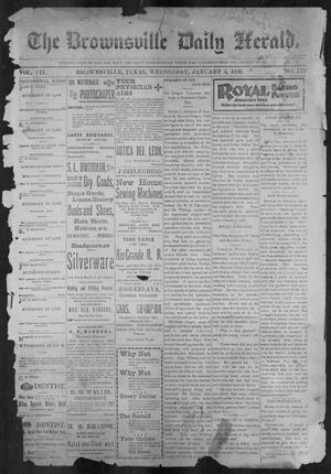 Primary view of object titled 'The Brownsville Daily Herald. (Brownsville, Tex.), Vol. 7, No. 172, Ed. 1, Wednesday, January 4, 1899'.