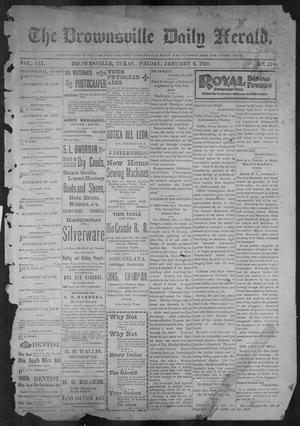 Primary view of object titled 'The Brownsville Daily Herald. (Brownsville, Tex.), Vol. 7, No. 174, Ed. 1, Friday, January 6, 1899'.