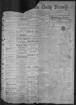 Primary view of object titled 'The Brownsville Daily Herald. (Brownsville, Tex.), Vol. 7, No. 179, Ed. 1, Thursday, January 12, 1899'.