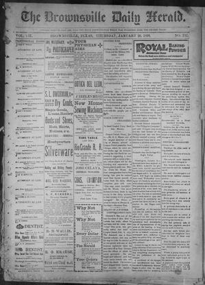 Primary view of object titled 'The Brownsville Daily Herald. (Brownsville, Tex.), Vol. 7, No. 191, Ed. 1, Thursday, January 26, 1899'.