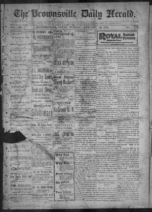 Primary view of object titled 'The Brownsville Daily Herald. (Brownsville, Tex.), Vol. 7, No. 195, Ed. 1, Tuesday, January 31, 1899'.
