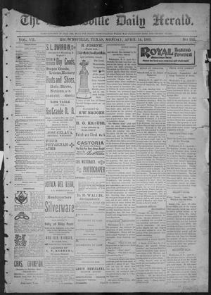 Primary view of object titled 'The Brownsville Daily Herald. (Brownsville, Tex.), Vol. 7, No. 266, Ed. 1, Monday, April 24, 1899'.