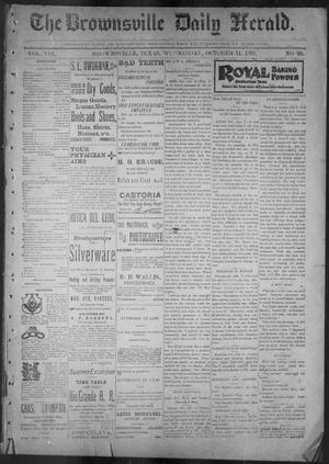 Primary view of object titled 'The Brownsville Daily Herald. (Brownsville, Tex.), Vol. 8, No. 86, Ed. 1, Wednesday, October 11, 1899'.