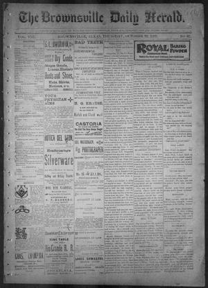 Primary view of object titled 'The Brownsville Daily Herald. (Brownsville, Tex.), Vol. 8, No. 87, Ed. 1, Thursday, October 12, 1899'.