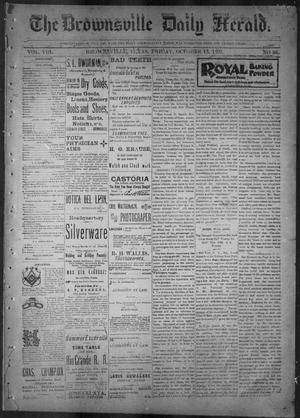 Primary view of object titled 'The Brownsville Daily Herald. (Brownsville, Tex.), Vol. 8, No. 88, Ed. 1, Friday, October 13, 1899'.