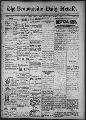 Primary view of object titled 'The Brownsville Daily Herald. (Brownsville, Tex.), Vol. 8, No. 131, Ed. 1, Saturday, December 2, 1899'.
