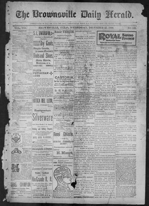 Primary view of object titled 'The Brownsville Daily Herald. (Brownsville, Tex.), Vol. 8, No. 152, Ed. 1, Wednesday, December 27, 1899'.