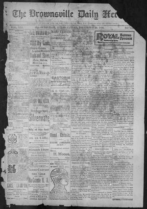 Primary view of object titled 'The Brownsville Daily Herald. (Brownsville, Tex.), Vol. 8, No. 154, Ed. 1, Friday, December 29, 1899'.