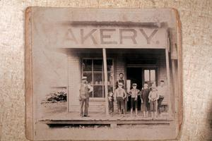 Primary view of [Copy Slide of a Photograph of the Schultz Bakery]