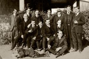 Photograph of Men at a Boarding House