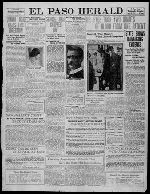 Primary view of object titled 'El Paso Herald (El Paso, Tex.), Ed. 1, Wednesday, April 20, 1910'.