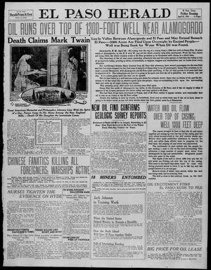 Primary view of object titled 'El Paso Herald (El Paso, Tex.), Ed. 1, Friday, April 22, 1910'.