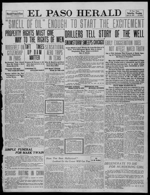 Primary view of object titled 'El Paso Herald (El Paso, Tex.), Ed. 1, Saturday, April 23, 1910'.