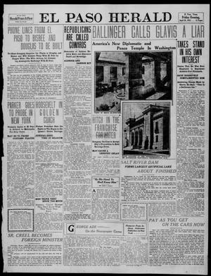 Primary view of object titled 'El Paso Herald (El Paso, Tex.), Ed. 1, Friday, April 29, 1910'.