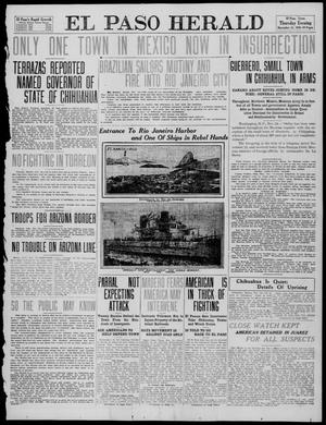 Primary view of object titled 'El Paso Herald (El Paso, Tex.), Ed. 1, Thursday, November 24, 1910'.