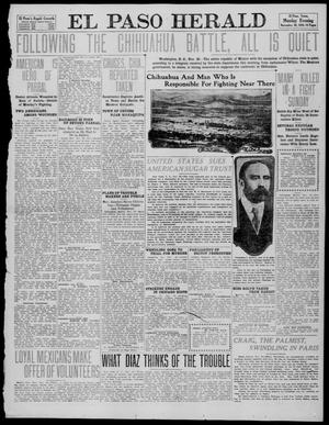 Primary view of object titled 'El Paso Herald (El Paso, Tex.), Ed. 1, Monday, November 28, 1910'.