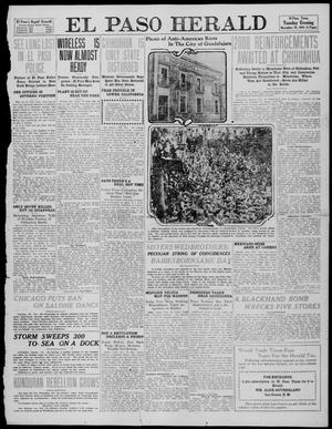 Primary view of object titled 'El Paso Herald (El Paso, Tex.), Ed. 1, Tuesday, November 29, 1910'.