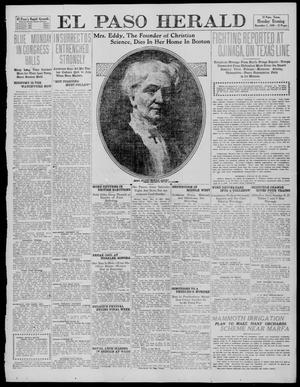 Primary view of object titled 'El Paso Herald (El Paso, Tex.), Ed. 1, Monday, December 5, 1910'.