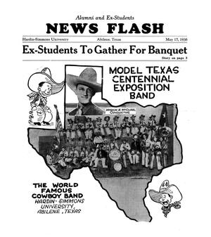 Primary view of object titled 'Hardin-Simmons Alumni and Ex-Students News Flash, May 17, 1936'.